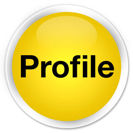 Profile isolated on premium yellow round button abstract illustration