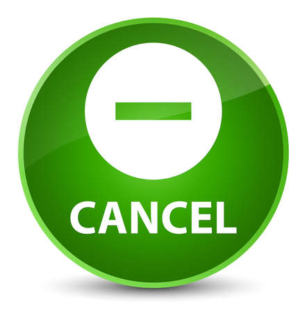 Cancel isolated on elegant green round button abstract illustration