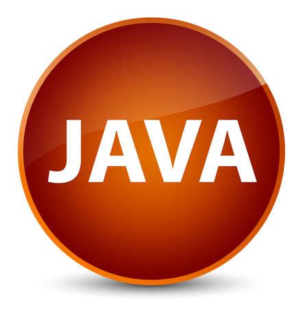 エレガントな茶色の丸いボタンの抽象的なイラストに分離された Java