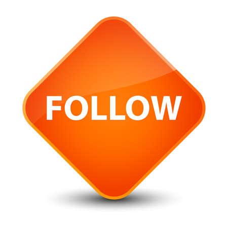 Follow isolated on elegant orange diamond button abstract illustration Stock Illustration - 88799309