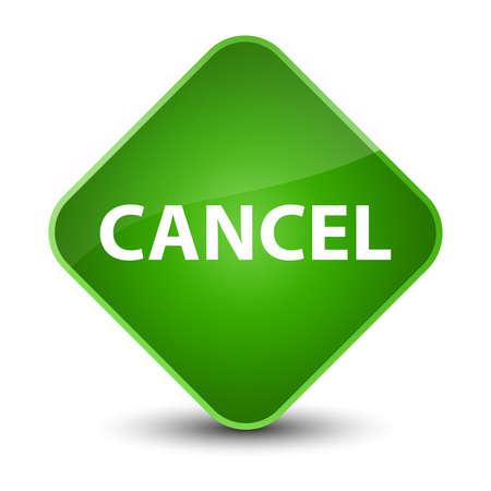 Cancel isolated on elegant green diamond button abstract illustration