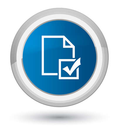 Survey icon isolated on prime blue round button abstract illustration Stock Photo