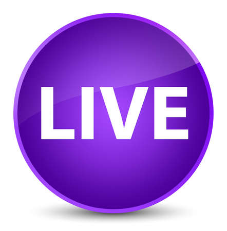 Live isolated on elegant purple round button abstract illustration