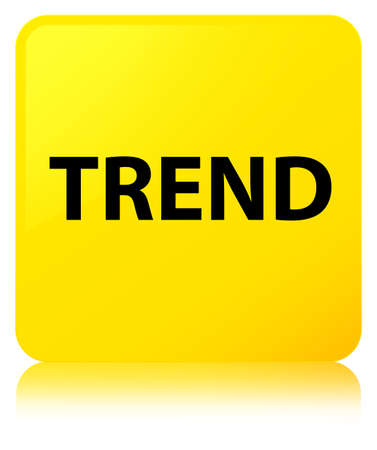 Trend isolated on yellow square button reflected abstract illustration