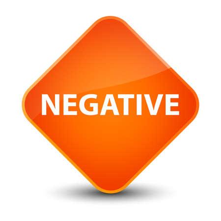 Negative isolated on elegant orange diamond button abstract illustration Stock Photo