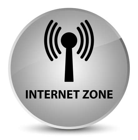 Internet zone (wlan network) isolated on elegant white round button abstract illustration Stock Photo