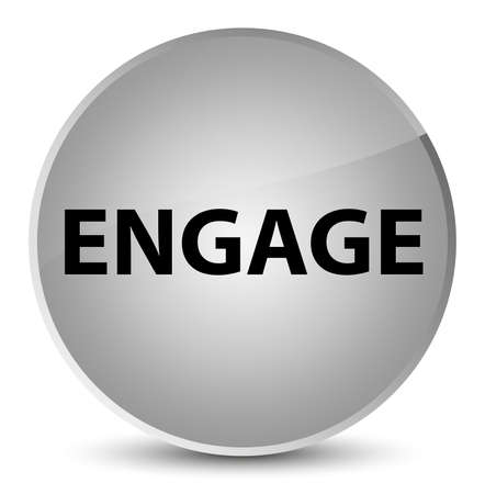 Engage isolated on elegant white round button abstract illustration