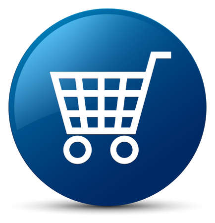 Ecommerce icon isolated on blue round button abstract illustration