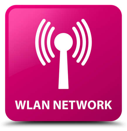 Wlan network isolated on pink square button abstract illustration Stock Photo