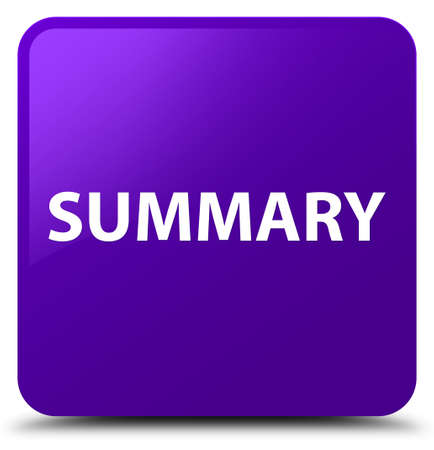 Summary isolated on purple square button abstract illustration