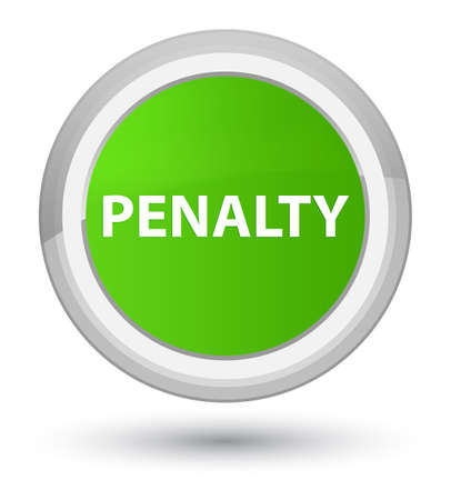 Penalty isolated on prime soft green round button abstract illustration
