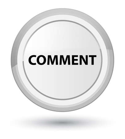Comment isolated on prime white round button abstract illustration