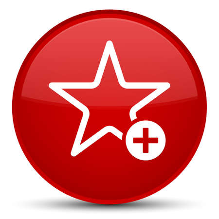 Add to favorite icon isolated on special red round button abstract illustration Stock Photo