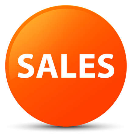 Sales isolated on orange round button abstract illustration