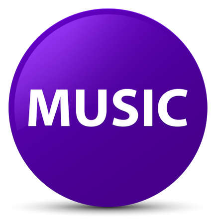 Music isolated on purple round button abstract illustration