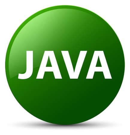 Java isolated on green round button abstract illustration Stock Photo