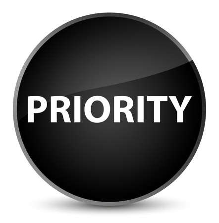 Priority isolated on elegant black round button abstract illustration