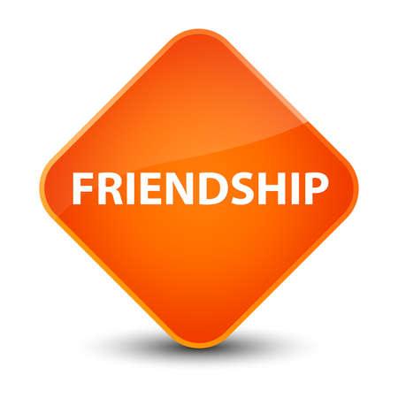 Friendship isolated on elegant orange diamond button abstract illustration