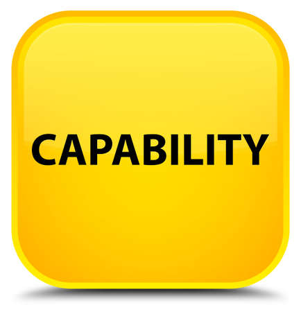 Capability isolated on special yellow square button abstract illustration