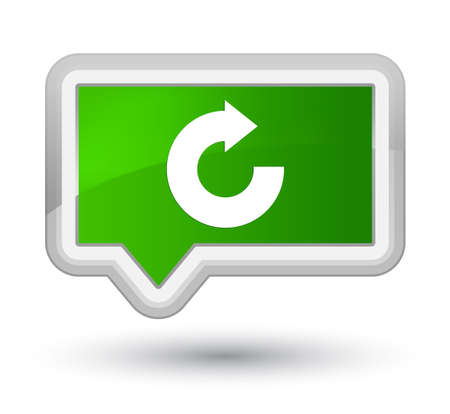 Reply arrow icon isolated on prime green banner button abstract illustration