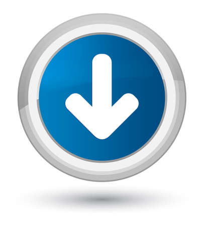 Download arrow icon isolated on prime blue round button abstract illustration