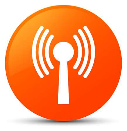 Wlan icône réseau isolé sur orange bouton abstrait illustration Banque d'images - 88832719