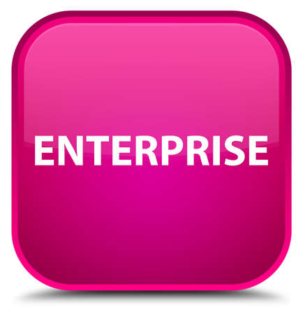 Enterprise isolated on special pink square button abstract illustration