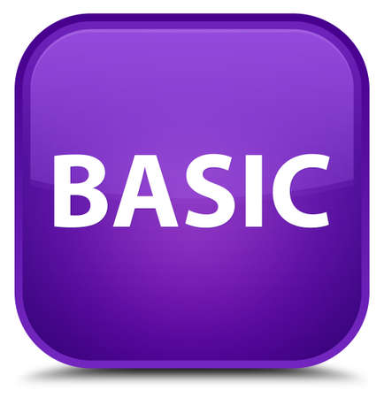 Basic isolated on special purple square button abstract illustration Фото со стока
