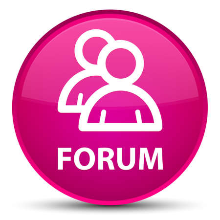 Forum (group icon) isolated on special pink round button abstract illustration Standard-Bild