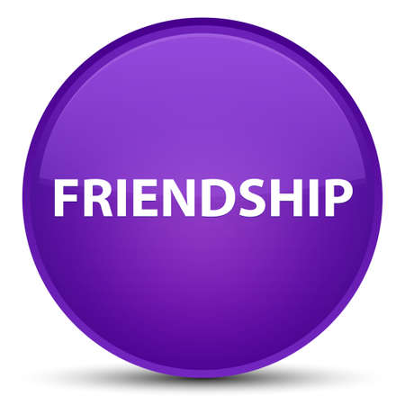 Friendship isolated on special purple round button abstract illustration