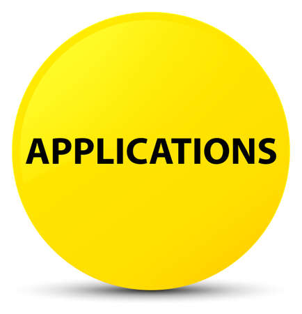 Applications isolated on yellow round button abstract illustration