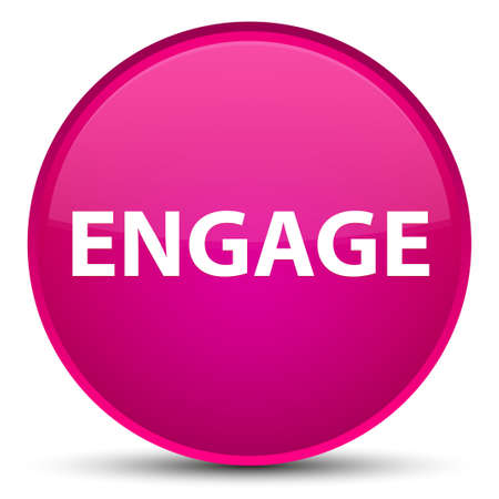 Engage isolated on special pink round button abstract illustration