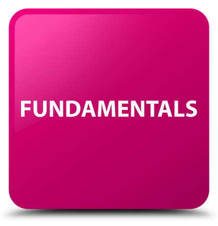 Fundamentals isolated on pink square button abstract illustration