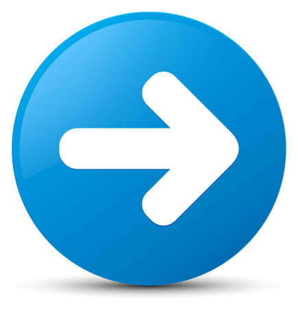 Next arrow icon isolated on cyan blue round button abstract illustration