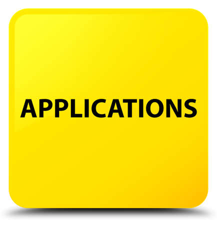 Applications isolated on yellow square button abstract illustration
