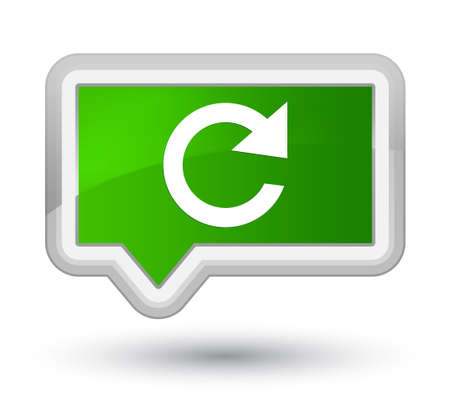 Reply rotate icon isolated on prime green banner button abstract illustration Stok Fotoğraf - 88832320