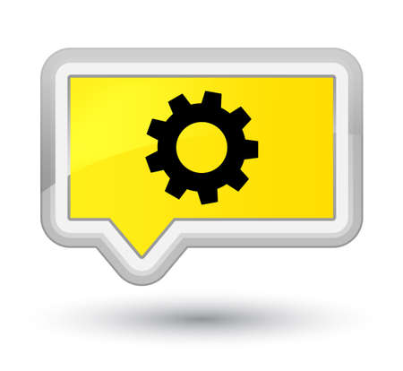 Process icon isolated on prime yellow banner button abstract illustration