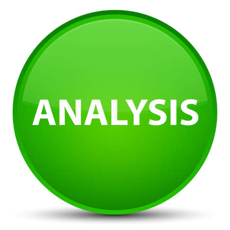 Analysis isolated on special green round button abstract illustration