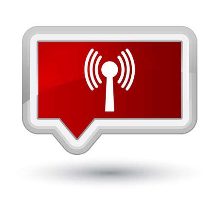 Icône de réseau Wlan isolé sur l'illustration abstraite du bouton bannière rouge Premier Banque d'images - 88836210