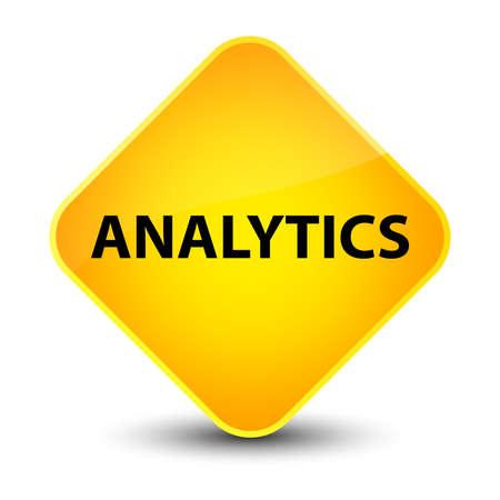 Analytics isolated on elegant yellow diamond button abstract illustration Stock Photo