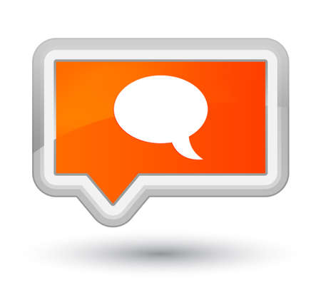 Chat icon isolated on prime orange banner button abstract illustration Stock Photo