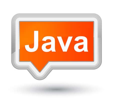 プライム オレンジ バナー ボタン抽象的なイラストに分離された Java