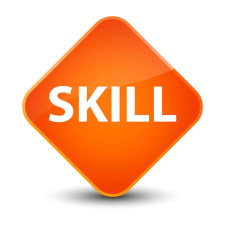 Skill isolated on elegant orange diamond button abstract illustration Stock Photo