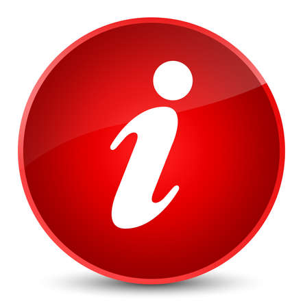 Info icon isolated on elegant red round button abstract illustration
