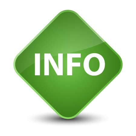 Info isolated on elegant soft green diamond button abstract illustration