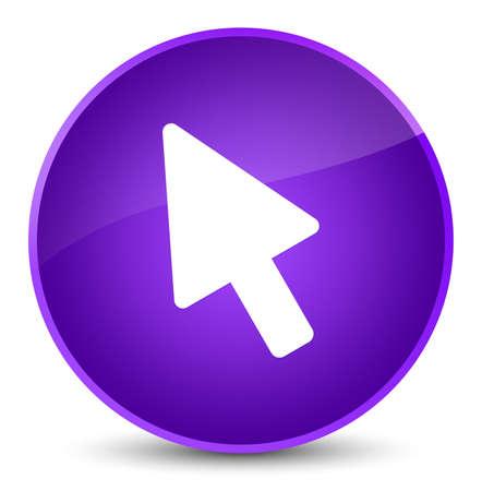Cursor icon isolated on elegant purple round button abstract illustration Reklamní fotografie