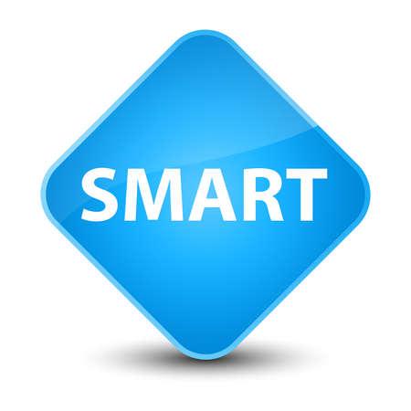 Smart isolated on elegant cyan blue diamond button abstract illustration Imagens - 88786669