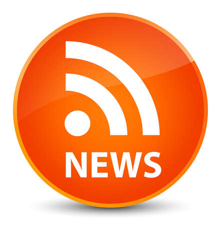 News (RSS icon) isolated on elegant orange round button abstract illustration