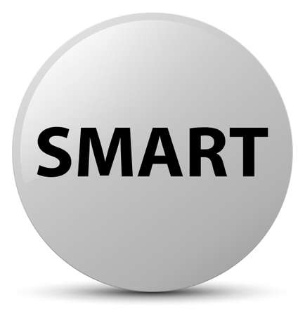 Smart isolated on white round button abstract illustration
