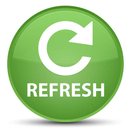 Refresh (rotate arrow icon) isolated on special soft green round button abstract illustration